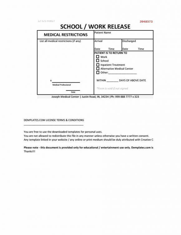 42 Fake Doctor's Note Templates for School & Work - Printable ...
