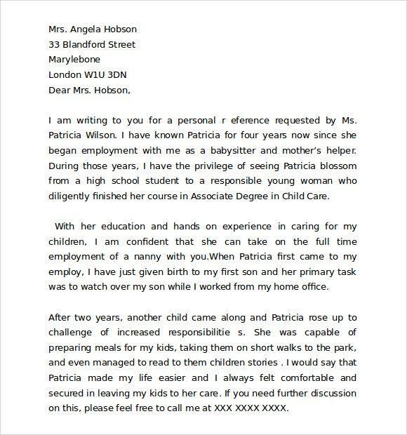 Microsoft Word Reference Letter Template [Nfgaccountability.com ]