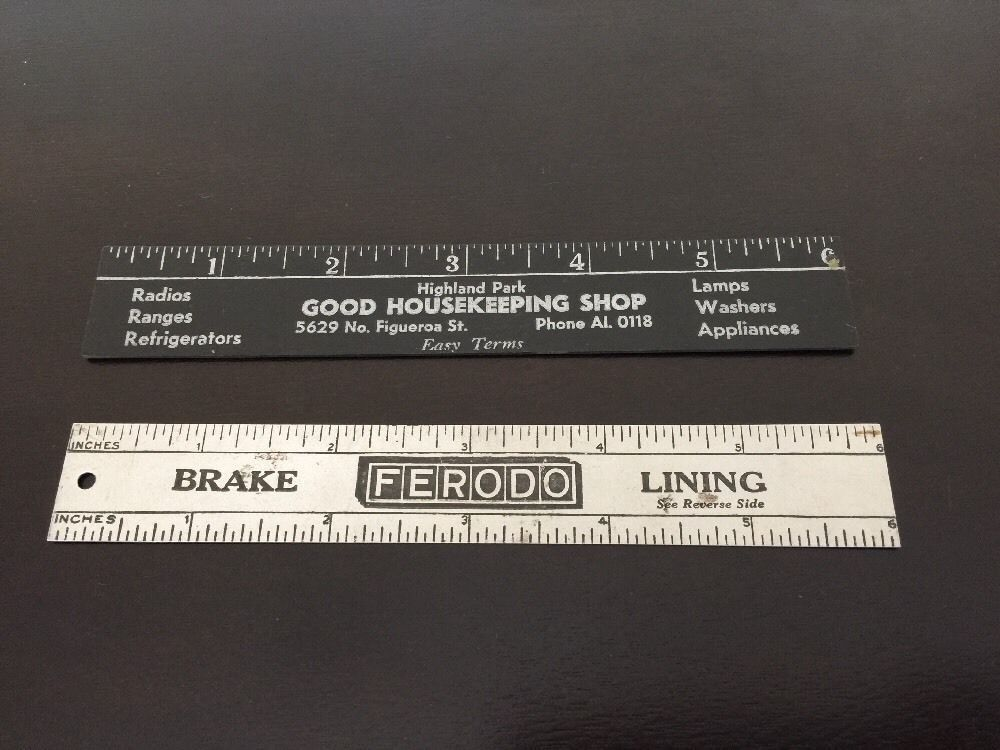 Details about Lot of 2 1940s Aluminum Advertising Ruler Good ...