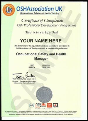 OSHAssociation Certificate Sample