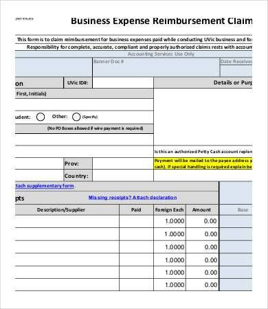 Reimbursement Form Template - 9+ Free Excel, PDF Documents ...