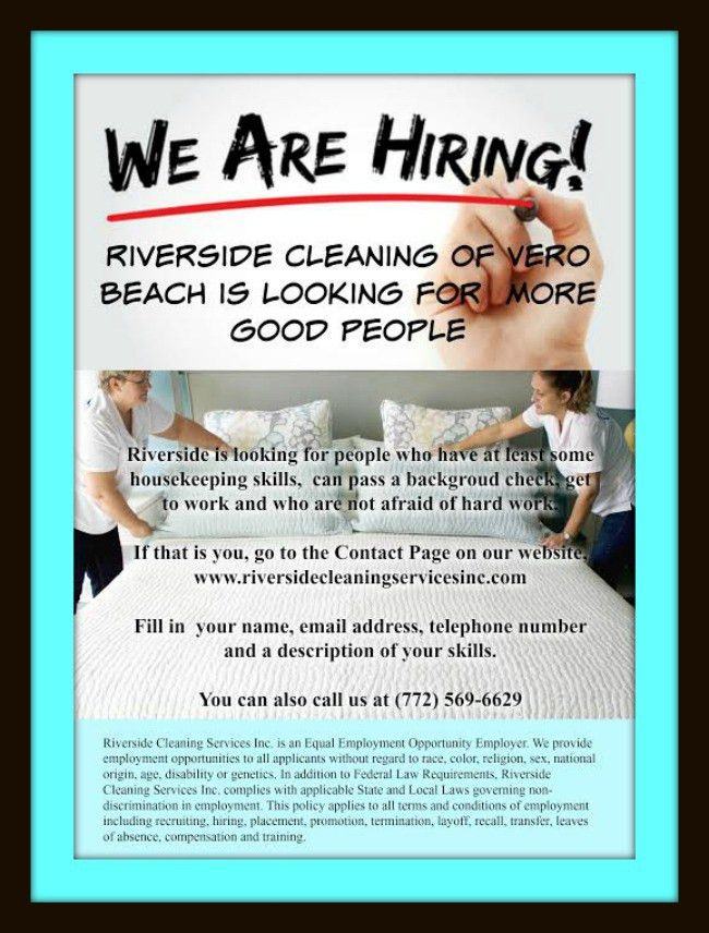 jobs vero beach Archives - Riverside Cleaning