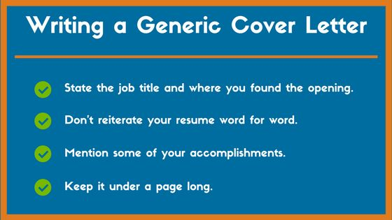 Generic Cover Letter Example and Tips to Land a Job - ZipJob