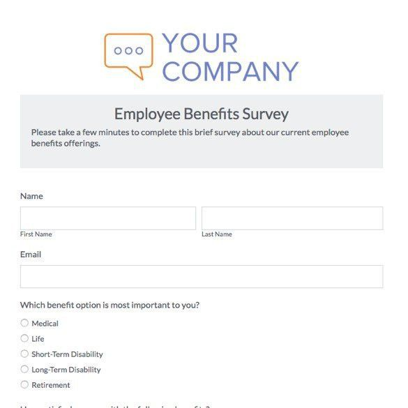 Free Employee Benefits Survey Template | Best Template Examples