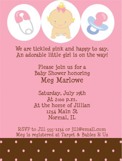 Top 14 Baby Shower Invitation Wording For A Girl For You ...