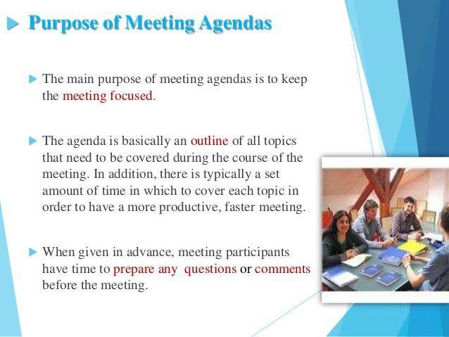Effective Agenda Writing