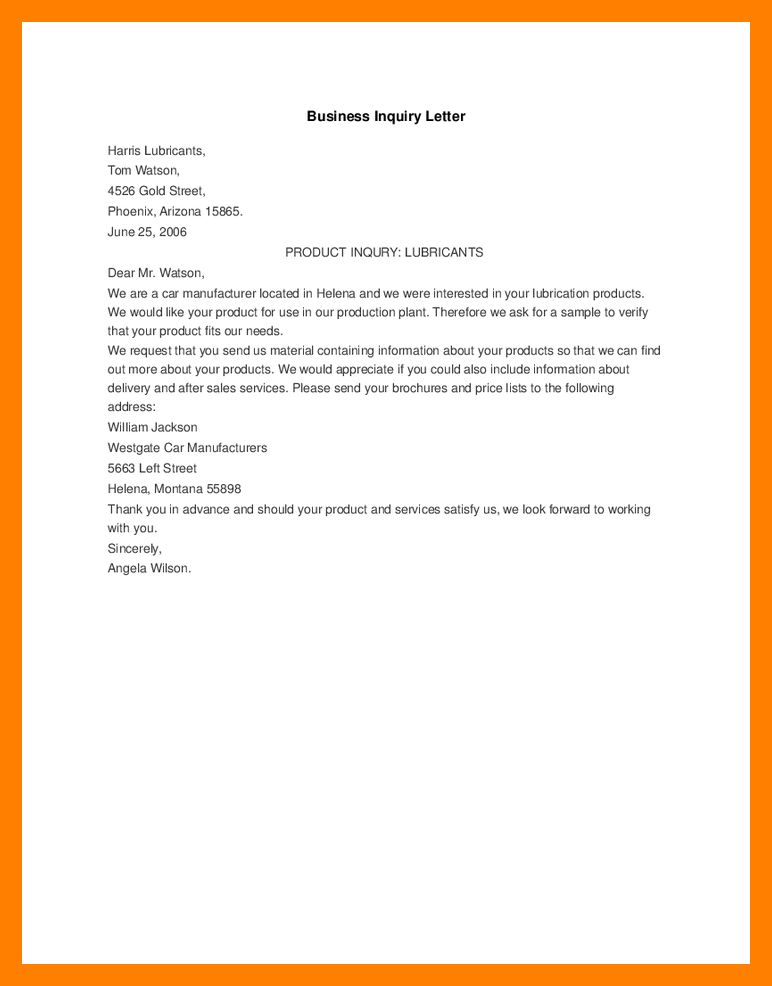10+ business inquiry letter | beverage-carts