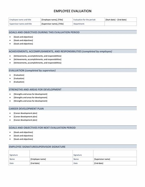 Employee performance evaluation - Office Templates