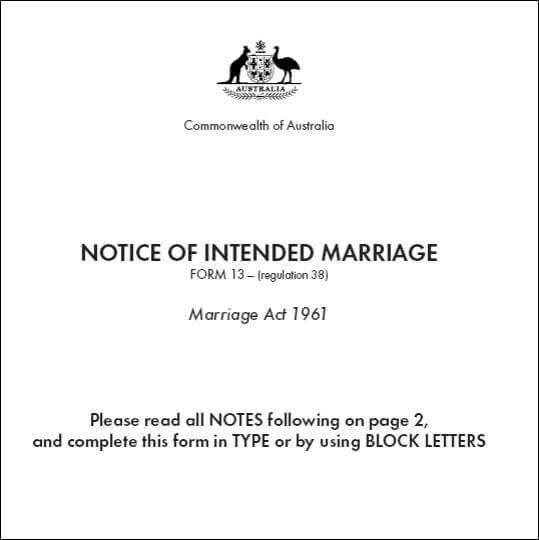 Help filling out your NOIM - Notice Of Intended Marriage
