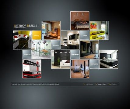 Interior Design Gallery Flash Template | Best Website Templates