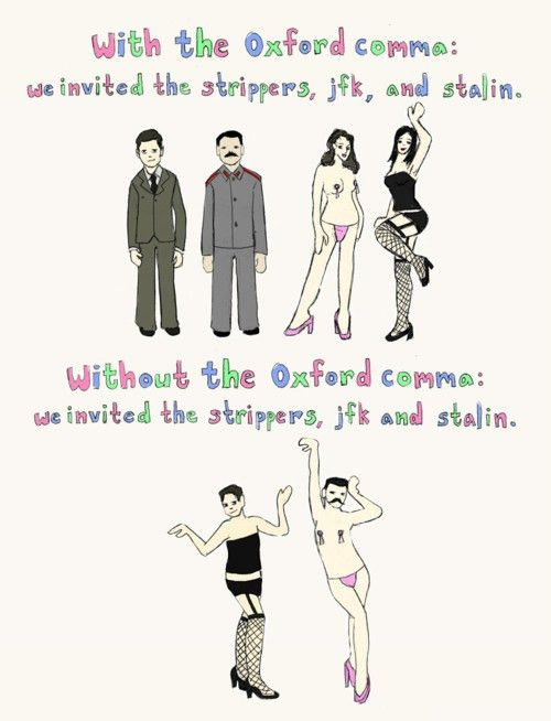 The Oxford Comma Is Extremely Important And Everyone Should Be ...