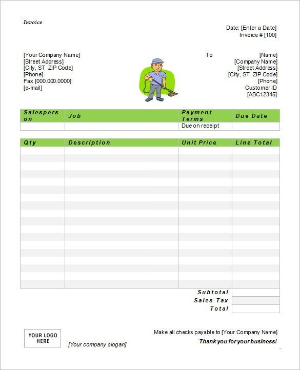 Download Download Service Invoice Template Word | rabitah.net