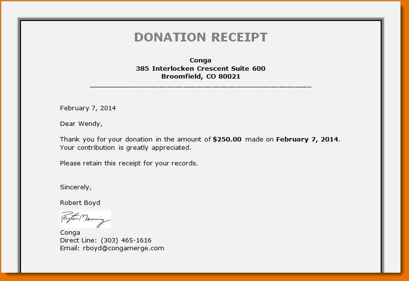 4+ non profit donation receipt template | Printable Receipt