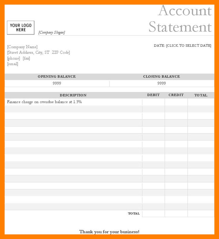6+ bank statement template | biology resume