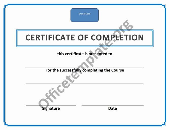 Training Certificate Of Completion | Office Templates