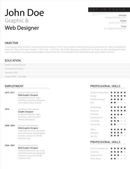 Clean Resume Template | berathen.Com