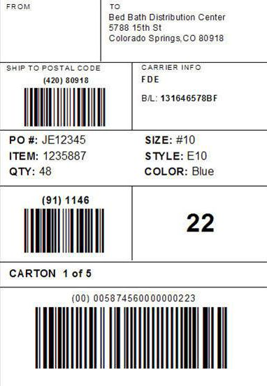 Shipping Label Format (GS1-128) | Acctivate Help