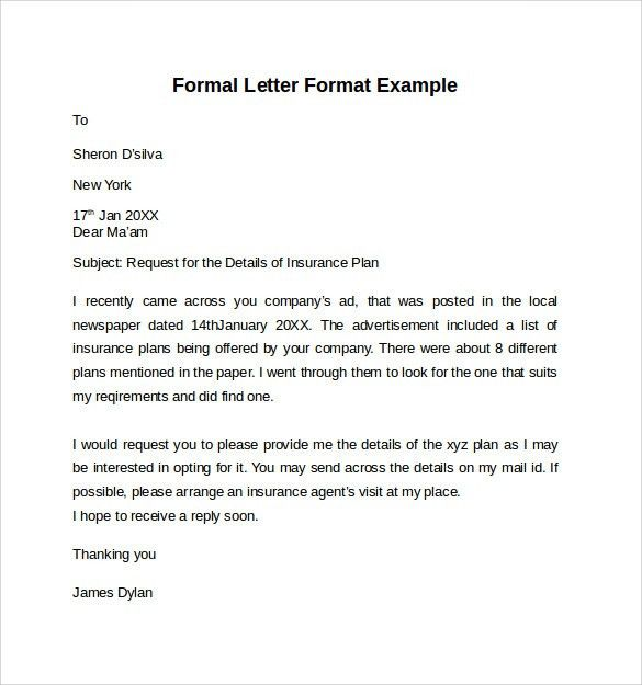 Application Letter Format. Formal Application Letter 55+ Free ...