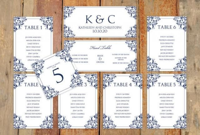 Wedding Seating Chart Template - Download Instantly - EDIT ...