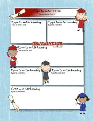 Graduation Newsletter Template from edlah Preschool Resources on ...