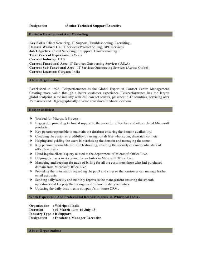 Download Customer Support Executive Resume | haadyaooverbayresort.com