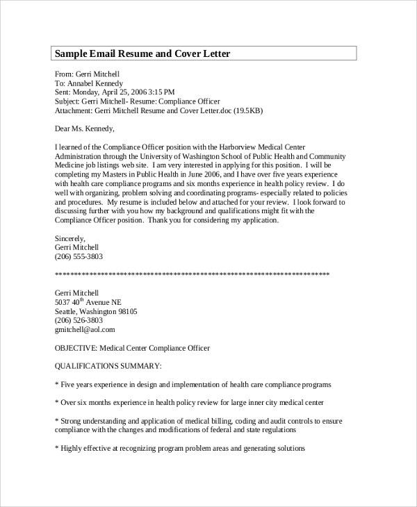 Sample Cover Letter - 22+ Documents in PDF, Word