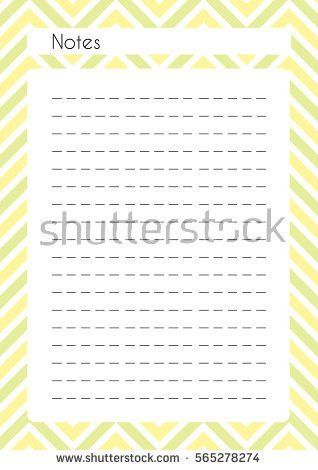 Printable Diary Page My Wish List Stock Vector 575884459 ...
