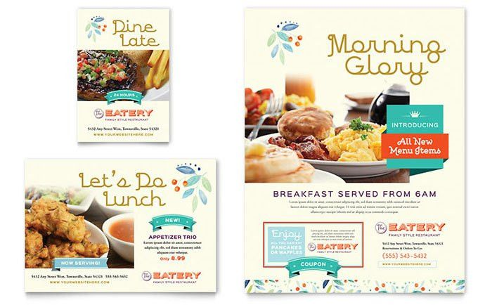 Family Restaurant Flyer & Ad Template Design
