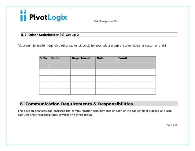 PMP - Risk Management plan & template