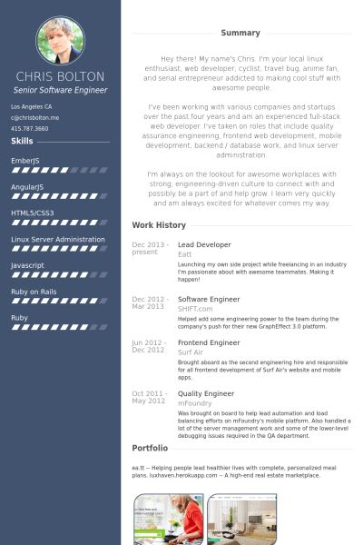 Lead Developer Resume samples - VisualCV resume samples database