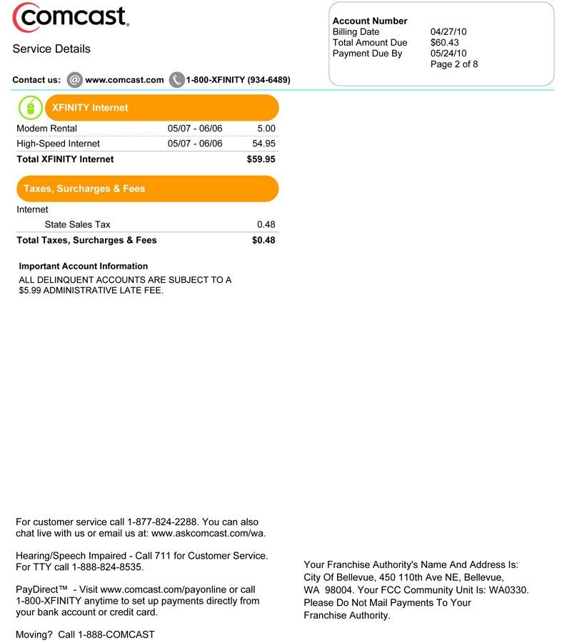 Compare Your Comcast Bill with your Neighbor's – Introducing Bill ...