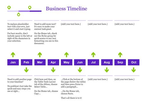 Project timeline - Office Templates