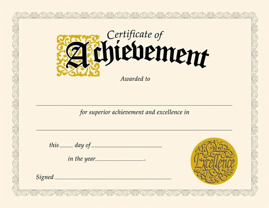 Certificate of Achievement Templates | Loving Printable