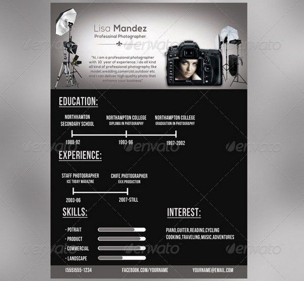 10+ Photographer Resume Templates - Free Word, Excel, PDF