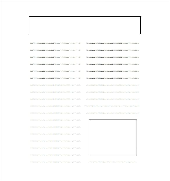 14+ Blank Newspaper Templates – Free Sample, Example, Format ...