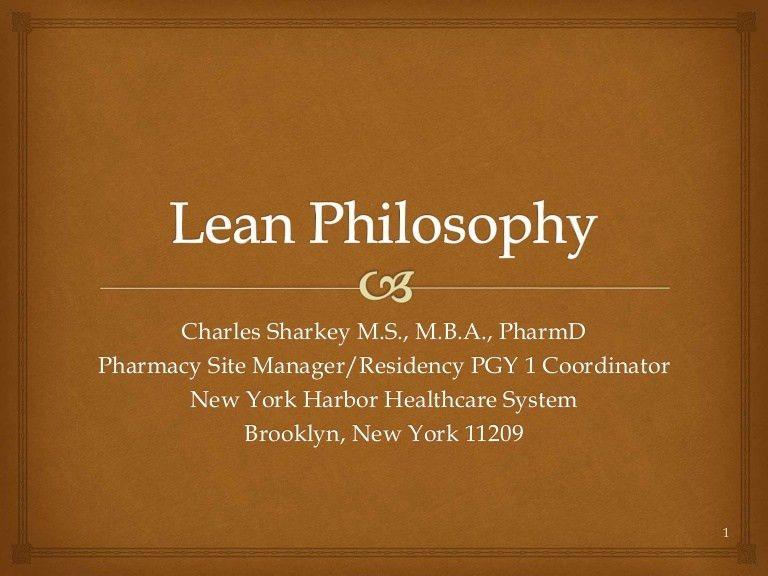 Lean Philosophy 2014