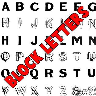 how to draw block letters Archives - How to Draw Step by Step ...