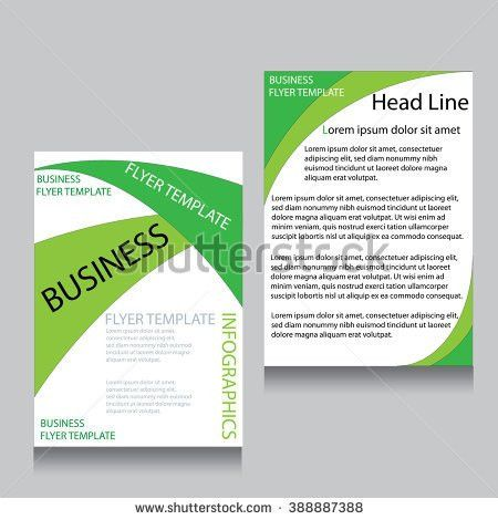 Vector Green Brochure Flyer Design Layout Stock Vector 436781245 ...