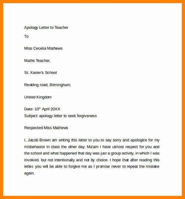 7+ how to write an apology letter to a teacher | assembly resume