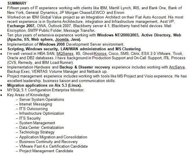 Summary Resume Examples. Professional Skills Summary Resume In Pdf ...
