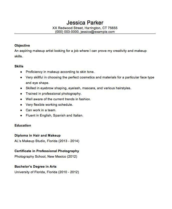 13 best Resume images on Pinterest | Artist resume, Makeup artists ...