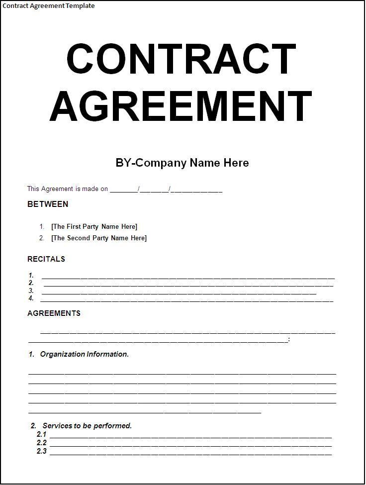 Contract templates | Company Documents