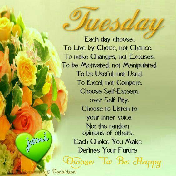 Tuesday good morning greetings