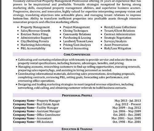 property manager resume templates Property Management resume ...