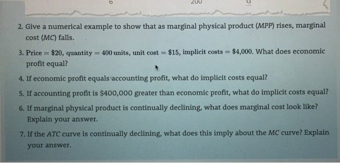 Give A Numerical Example To Show That As Marginal ... | Chegg.com