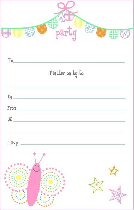 1st Birthday Party Invitations Templates Free - iidaemilia.Com