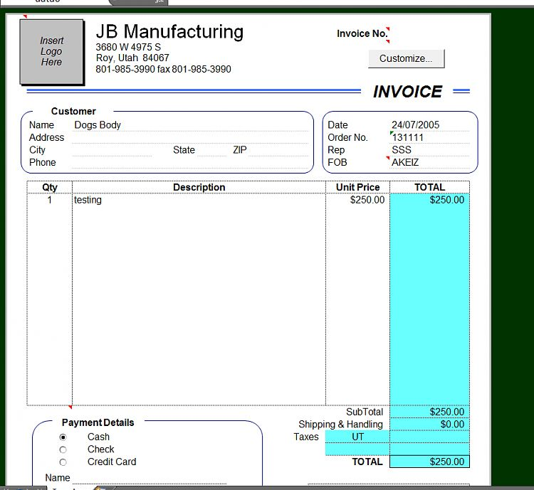 How can I make my Excel 2000 invoice template work? - Windows 7 ...