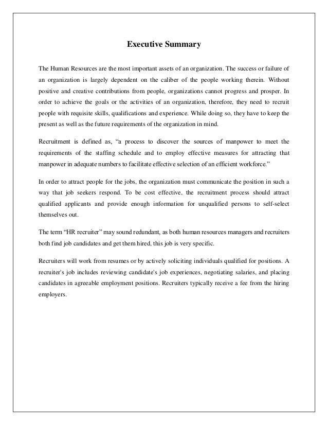 Resume For Hr Internship - Contegri.com