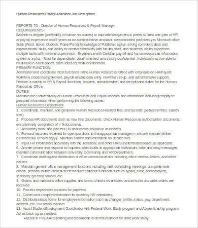 Payroll Manager Job Description. Resume 19 Mesmerizing Job ...