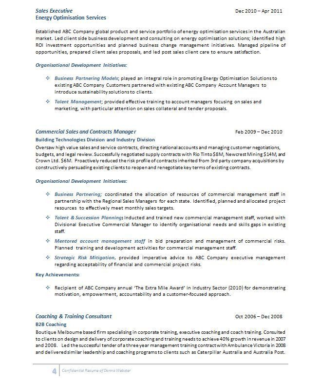 Consulting Resume Example